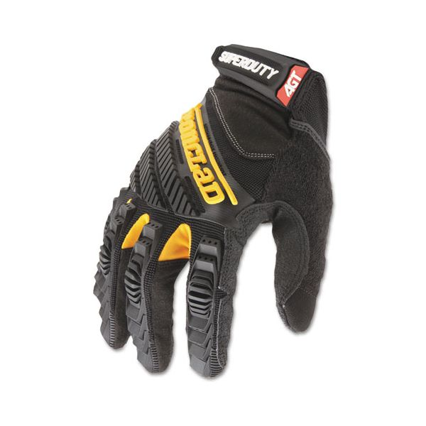 Ironclad SuperDuty Gloves, X-Large, Black/Yellow, 1 Pair