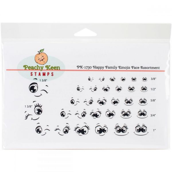Peachy Keen Stamps Clear Face Assortment 32/Pkg