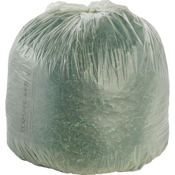 Stout Ecosafe Compostable 48 Gallon Trash Bags