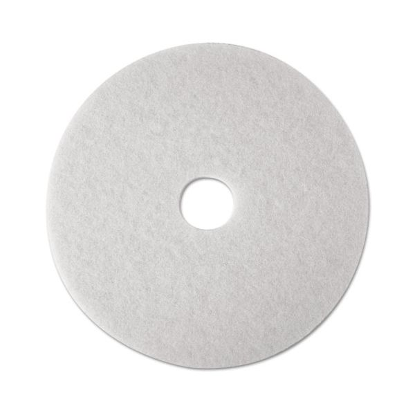 3M White Polish Floor Pads