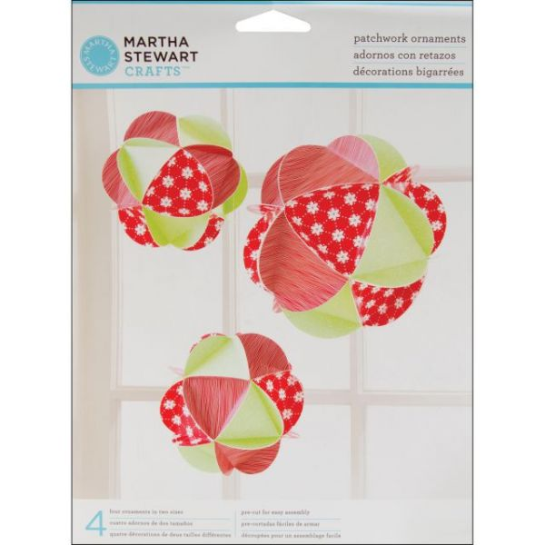 Patchwork Ornaments Makes 4