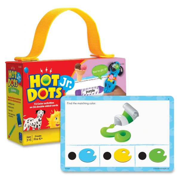 Hot Dots Jr. Card Set Colors