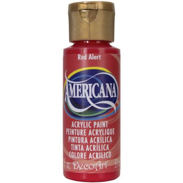 Deco Art Americana Red Alert Acrylic Paint