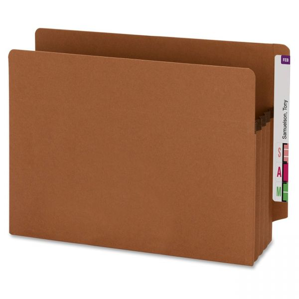 Smead Recycled Extra Wide Expanding End Tab File Pockets