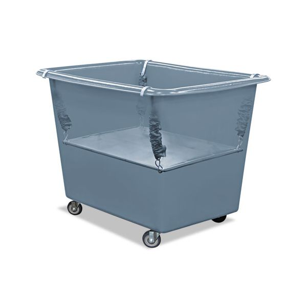 Royal Basket Trucks Poly Spring Lift, 23 x 35 1/2, 16 Bushel, Vinyl/Steel, Gray