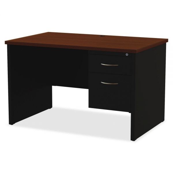 Lorell Commercial Single Pedestal Computer Desk