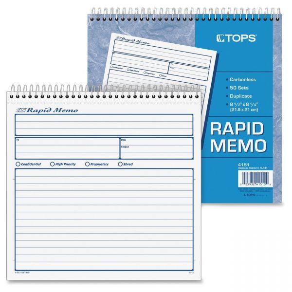 TOPS Rapid Memo Book