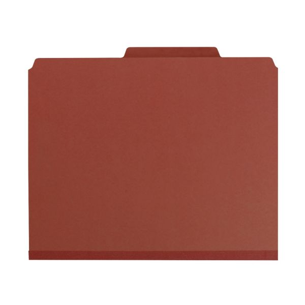 Smead 2-Divider Pressboard Classification Folders with Pocket-Style Dividers and SafeSHIELD Fasteners