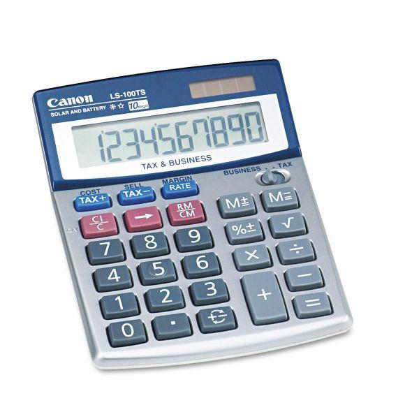 Canon LS100TS Portable Desktop Business Calculator, 10-Digit LCD