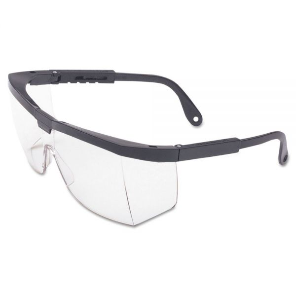 Honeywell Spartan A200 Series Eyewear, Black Frame, Clear Lens