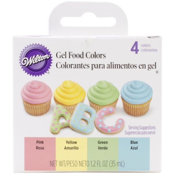 Gel Icing Color Set 3oz 4/Pkg