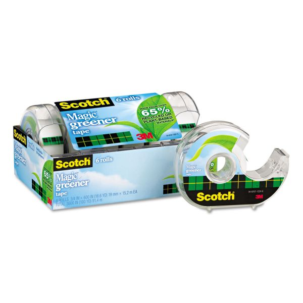 "Scotch 3/4"" Magic Greener Tape in Refillable Dispenser"