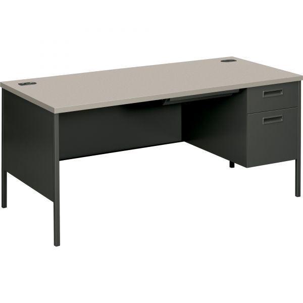 "HON Metro Classic Right Pedestal Desk | 1 Box / 1 File Drawer | 66""W"