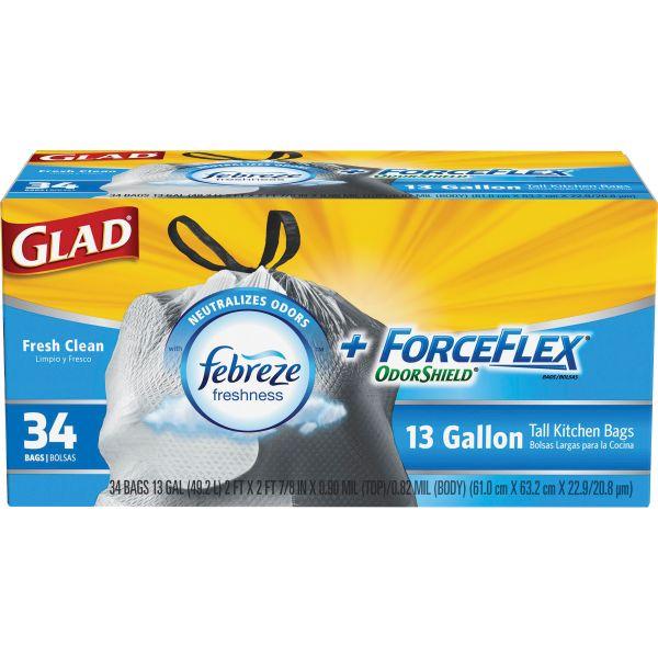 Glad ForceFlex OdorShield 13 Gallon Trash Bags
