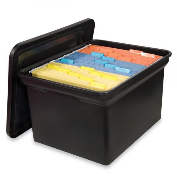 Sparco Hanging File Tote with Lid