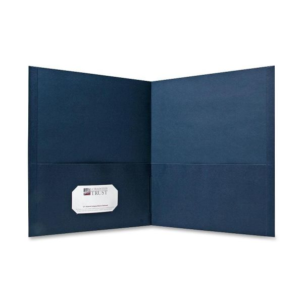 Sparco Dark Blue Two Pocket Folders