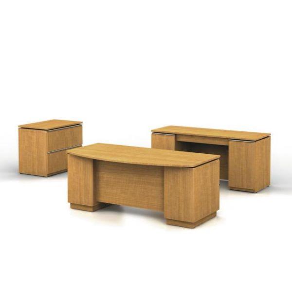 bbf Milano Executive Configuration - Golden Anigre finish by Bush Furniture
