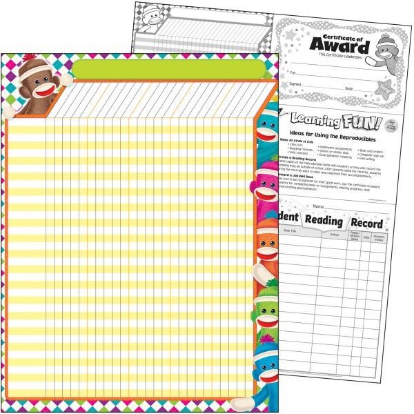 Trend Sock Monkeys Large Incentive Chart