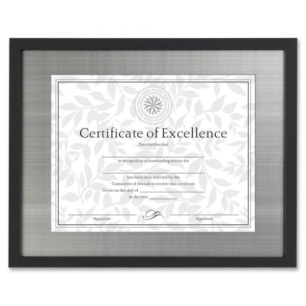 DAX Contemporary Picture/Certificate Frame With Silver Metal Mat