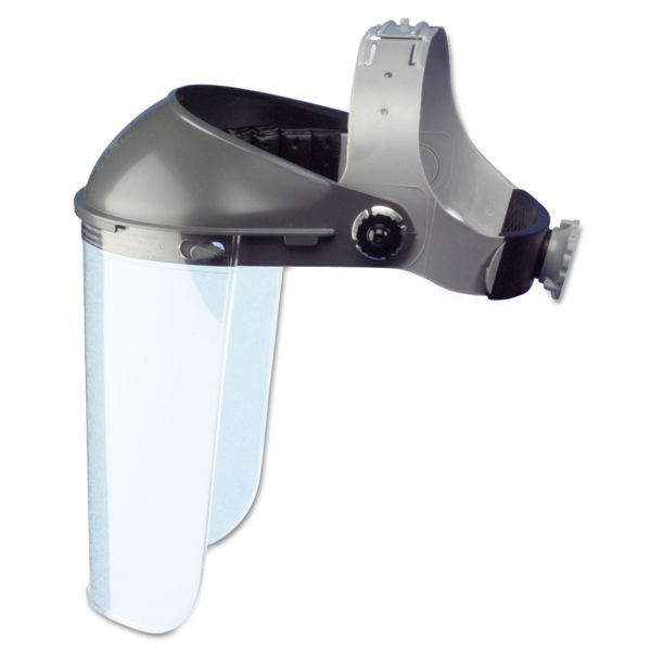 """Fibre-Metal by Honeywell High Performance Face Shield Assembly, 3"""" Crown Ratchet, Noryl, Gray"""
