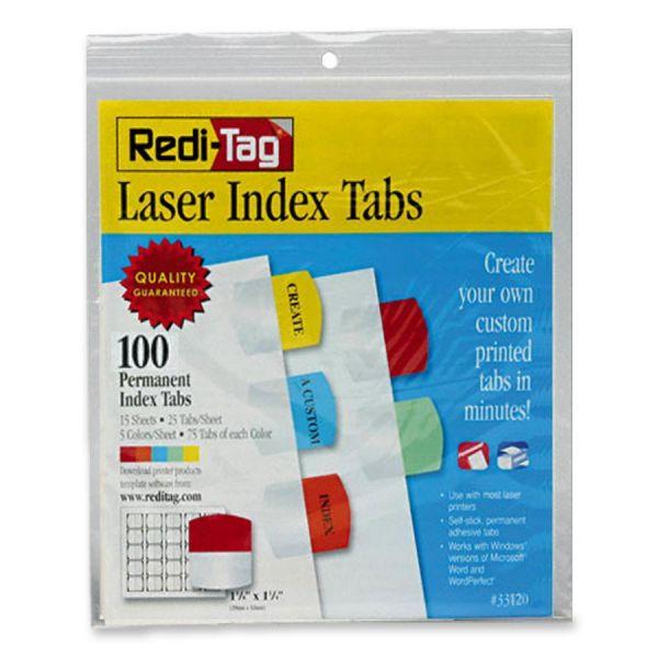 Redi-Tag Permanent Laser Index Tabs