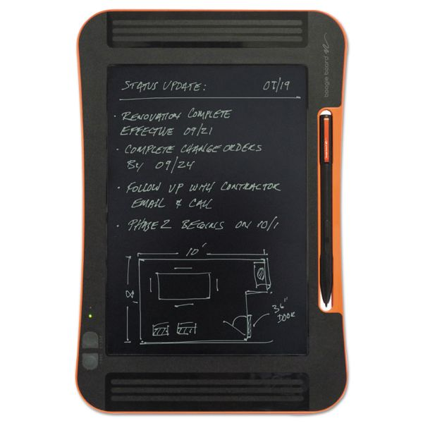 "Boogie Board Sync LCD eWriter, 9.7"" Screen, Black/Orange"