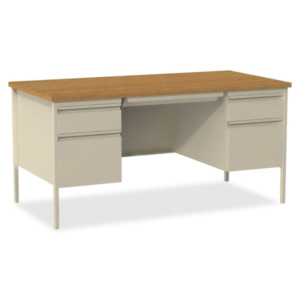 Lorell Fortress Series Double-Pedestal Computer Desk