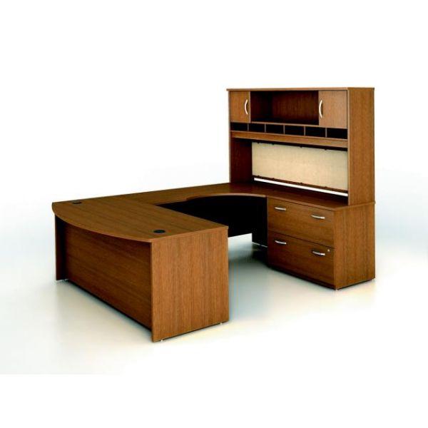bbf Series C Executive Configuration - Warm Oak finish by Bush Furniture