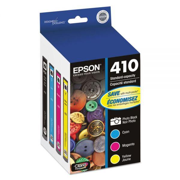 Epson T410520 (410) Ink, Black/Cyan/Magenta/Yellow, 4/PK