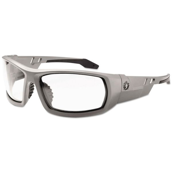 Ergodyne Fog-Off Clear Lens/Gray Frm Safety Glasses