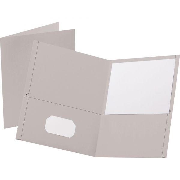 Esselte Gray Two Pocket Folders