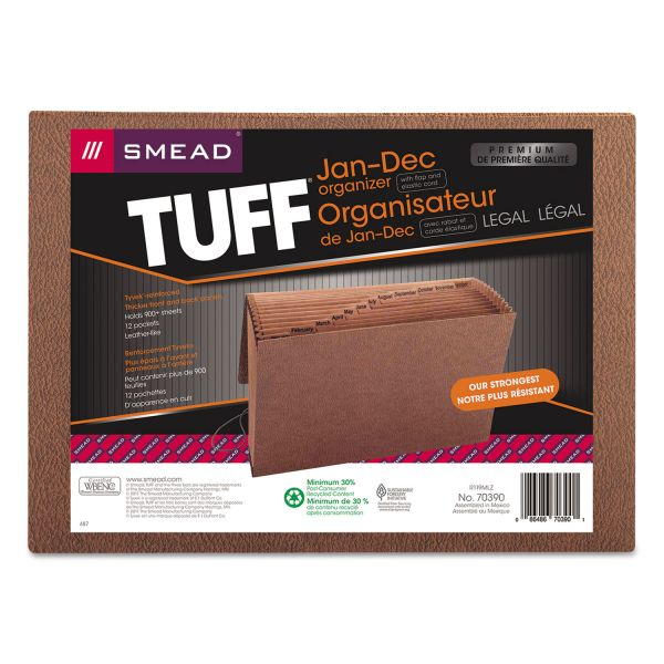 Smead Tuff Jan-Dec Expanding File