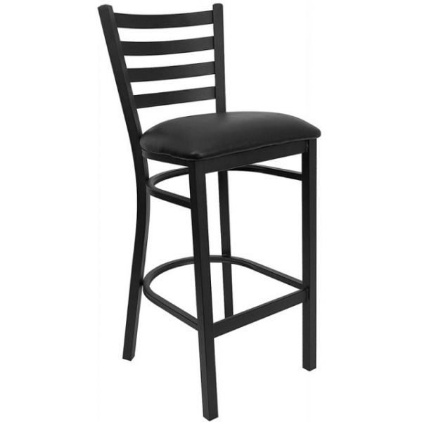Flash Furniture HERCULES Series Ladder Back Metal Bar Stool