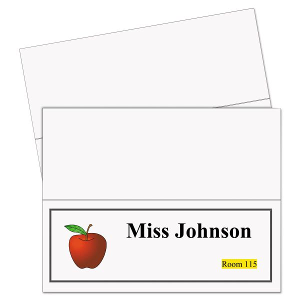 C-Line Printer-Ready Name Tent Cards, 11 x 4 1/4, White Cardstock, 50 Letter Sheets/Box