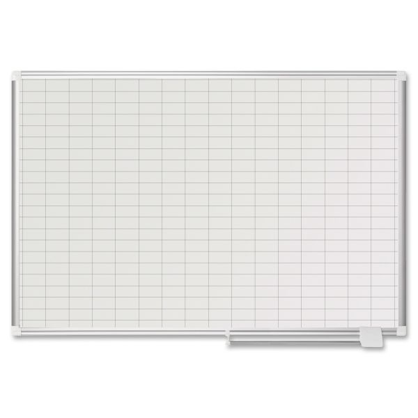 MasterVision Grid Planning Board Board, 36x48, Silver Frame
