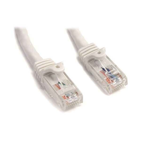 StarTech.com 15 ft White Snagless Cat6 UTP Patch Cable