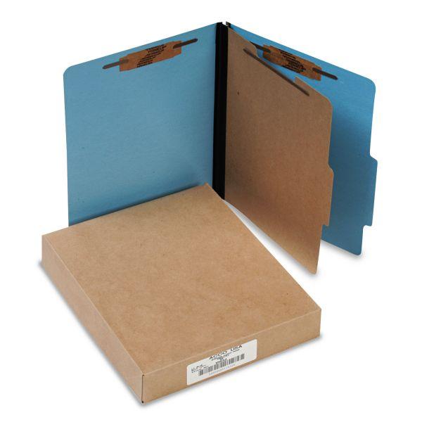 ACCO Presstex Colorlife 1-Divider Pressboard Classification Folders