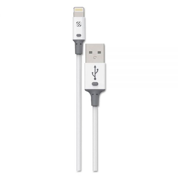 Scosche smartSTRIKE II Charge & Sync Cable for Lightning USB Devices, White
