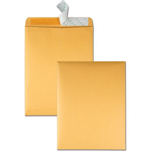 Quality Park Redi Strip Catalog Envelope, 10 x 13, 28lb, Brown Kraft, 100/Box