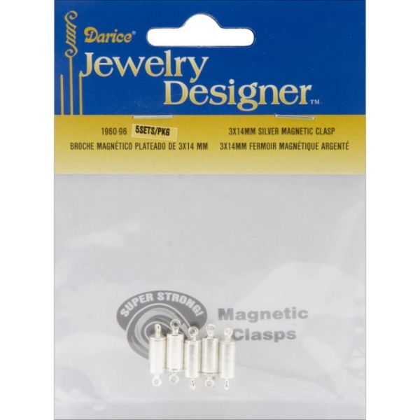 Magnetic Clasps 3mmX14mm 5/Pkg