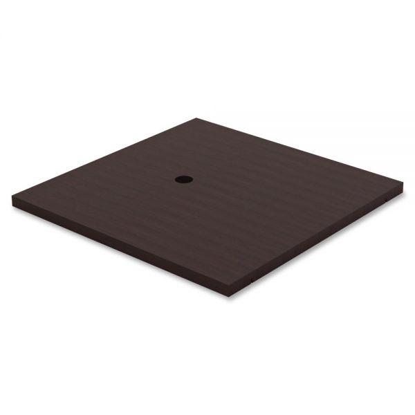Lorell Prominence Table Espresso Laminate Tabletop