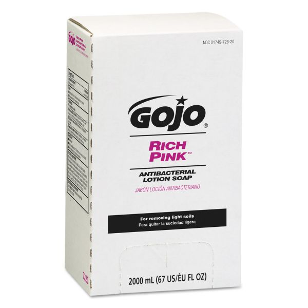 GOJO Bag-In-Box RICH PINK Antibacterial Lotion Hand Soap Refills