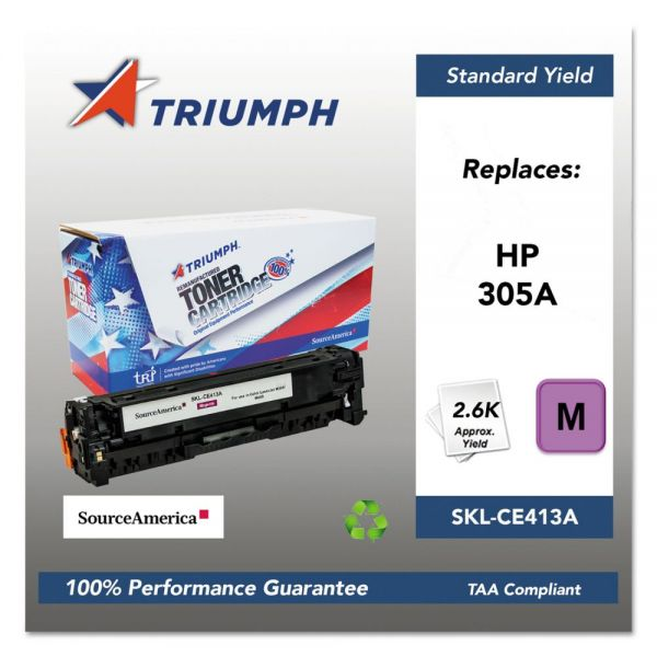Triumph Remanufactured HP 305A (CE413A) Toner Cartridge