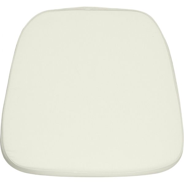Flash Furniture Soft Ivory Fabric Chiavari Chair Cushion