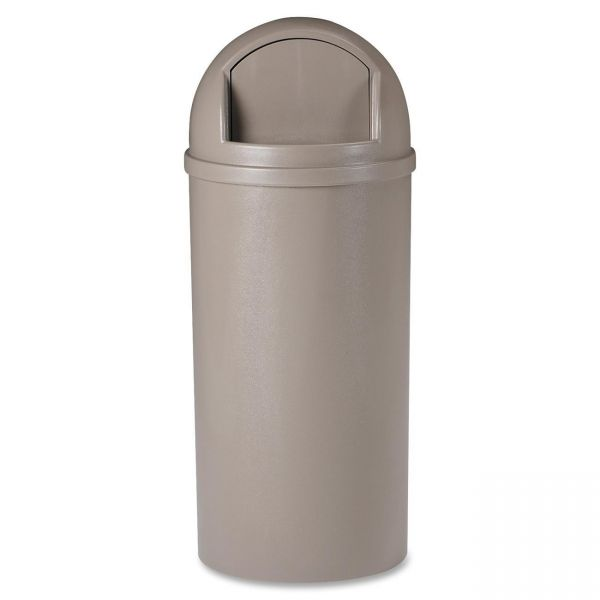 Rubbermaid Marshal Classic 15 Gallon Trash Can With Lid