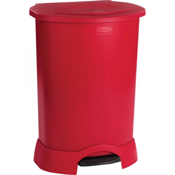 Rubbermaid Step-On 30 Gallon Trash Can With Lid