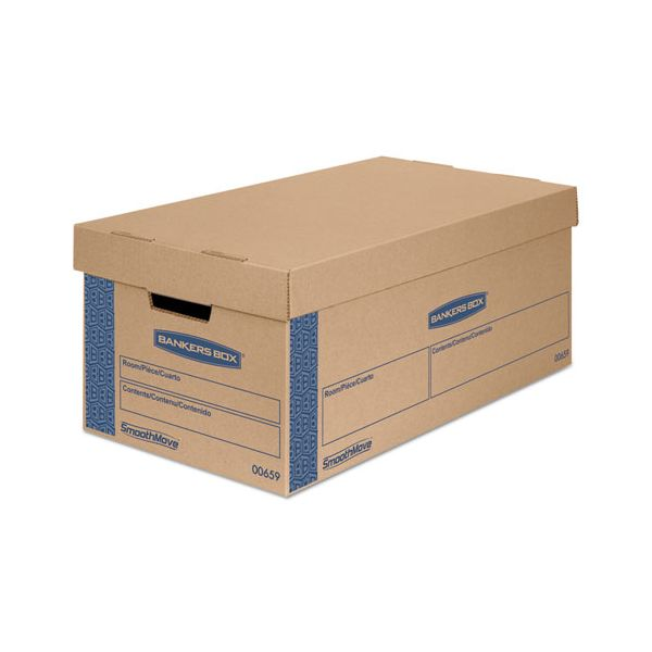 Bankers Box SmoothMove Classic Large Moving Boxes with Lift-off Lids