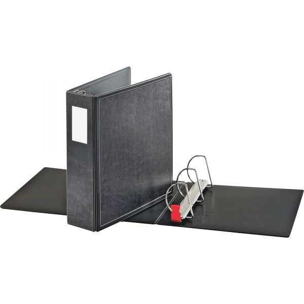 "Cardinal SuperLife Easy Open Locking Slant-D Ring Binder, 3"" Cap, 11 x 8 1/2, Black"
