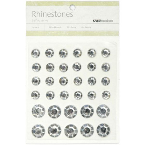 Self-Adhesive Round Rhinestones