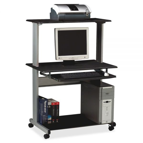 Tiffany Industries Eastwinds Multimedia Workstation, 36-3/4w x 21-1/4d x 50h, Charcoal Laminate Top
